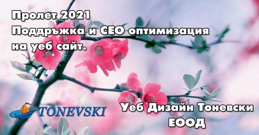 Поддръжка и СЕО оптимизация 2021