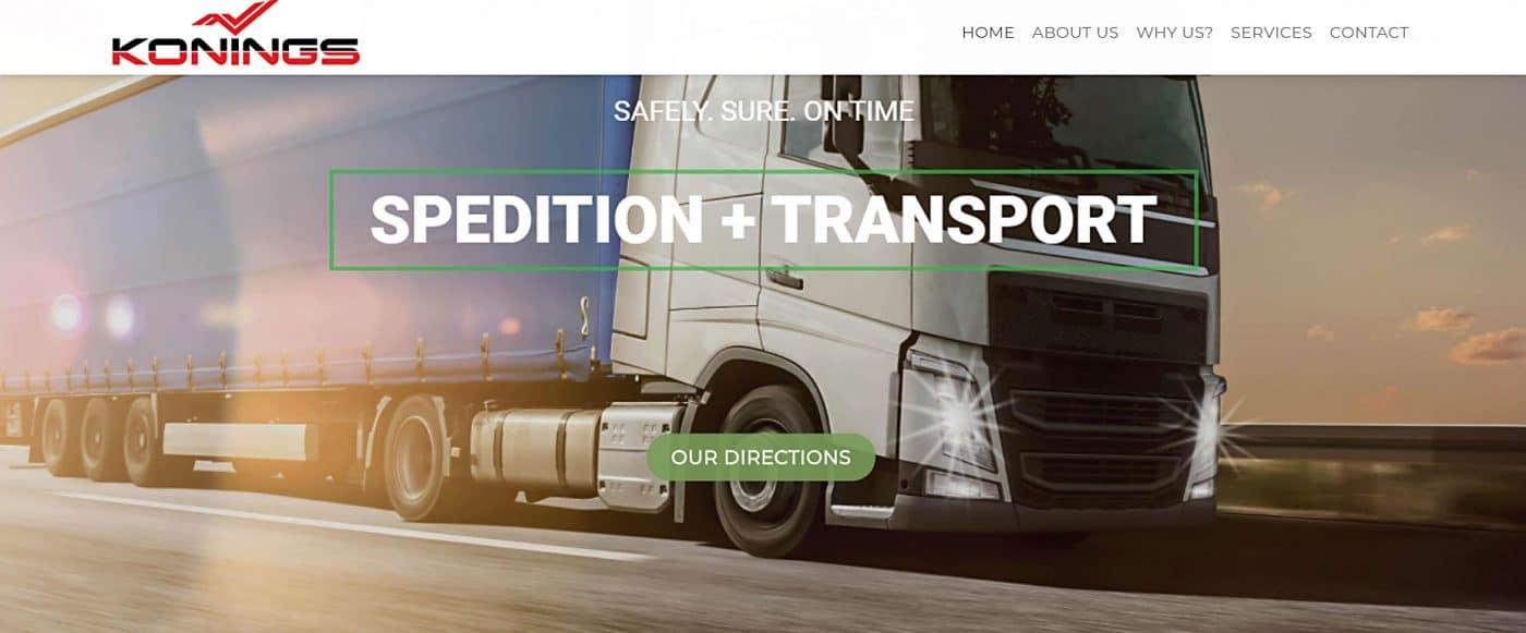 Трасспортен сайт от Уеб дизайн Тоневски